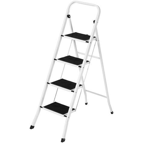 300 Lb Folding Step Stool by Portable Folding 4 Step Ladder Steel Stool 300lb Heavy