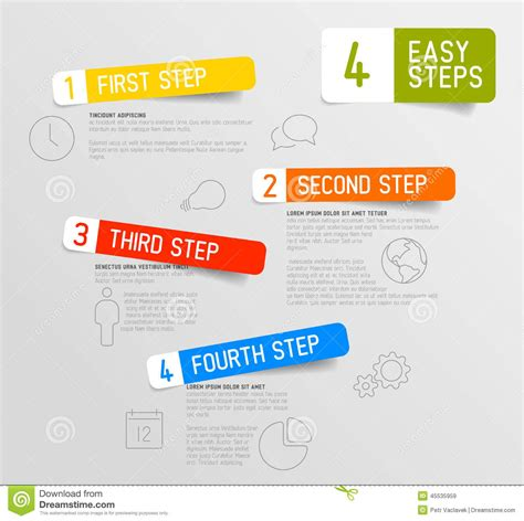 Infographic 4 Steps Template Stock Illustration Illustration Of Compare Card 45535959 Step By Step Infographic Template