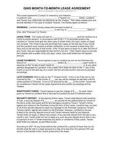6 month tenancy agreement template free ohio month to month lease agreement template pdf