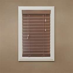 How To Cut Faux Wood Blinds Home Decorators Collection Cut To Width Maple 2 1 2 In