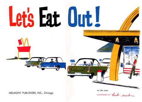lets eat out promotional mcdonald s children s book from 1965 let s eat out serious eats