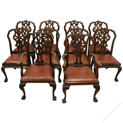 chippendale möbel set of 10 chippendale style mahogany dining chairs