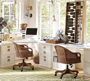 Pottery Barn Home Office Furniture How To Design An Office With Pottery Barn Bedford Furniture And A Laser All In One Printer For