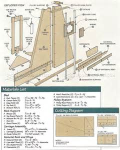 panel saw plans woodarchivist