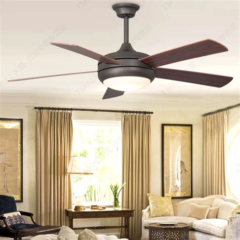 Simple European Wood Blade Ceiling Fan Light Simple Ceiling Fans For Living Room