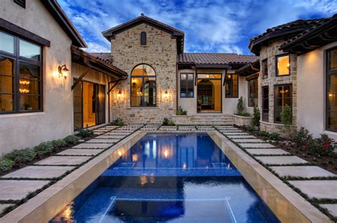 house plans with courtyard pools 5700 oaks