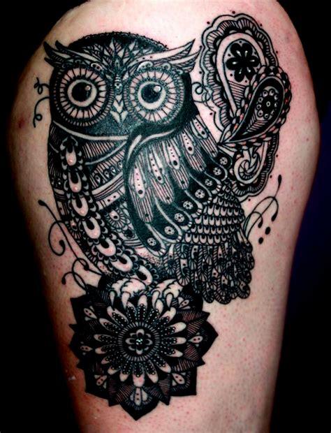 tattoo mandala owl victoria smith certified artist