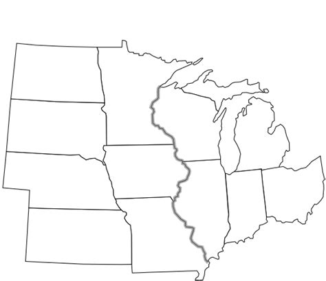 map of midwest states in usa file usa midwest notext svg wikimedia commons