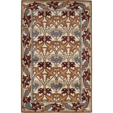 craftsman style rug 5x8 arts crafts mission style ivory wool area rug wool arts crafts and crafts