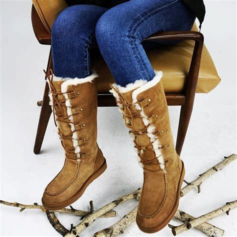 leather uggs stretch