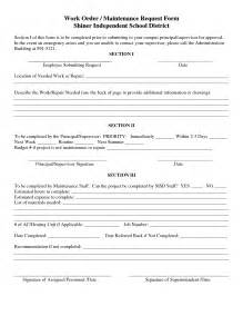 work order maintenance request form template best photos of maintenance work order form template
