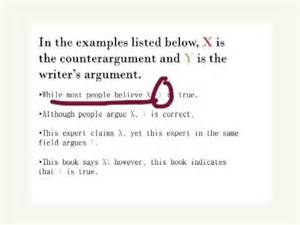 Counter Argument Essay Exles by Writing Counter Arguments