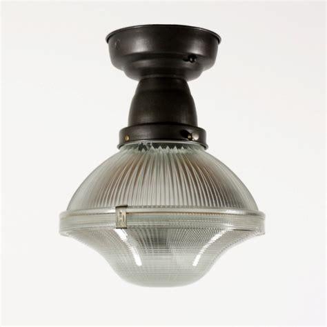 1930s Light Fixtures Antique Industrial Holophane Semi Flush Mount Light Fixture 1930s Nc1475 Rw For Sale Antiques
