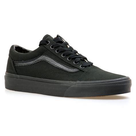 Vans Skool All Black Original Waffle Dt 1 vans mens skool all black trainers black mens from