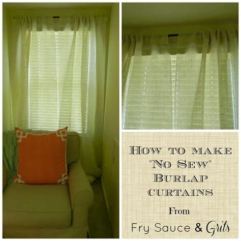 how to sew burlap curtains quot easy quot and quot no sew quot gold polka dot burlap curtains fry