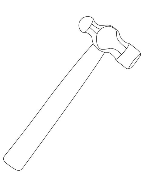 Coloring Page Hammer by Hammer Coloring Pages Free Hammer Coloring