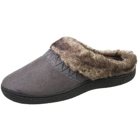 isotoner house shoes womens isotoner women s woodlands hoodback slippers