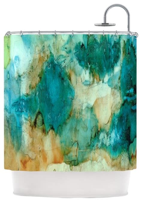 teal blue shower curtain rosie brown quot waterfall quot teal blue shower curtain modern