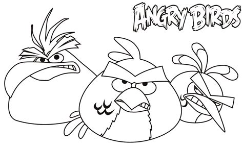 dibujos de angry birds  imprimir  colorear
