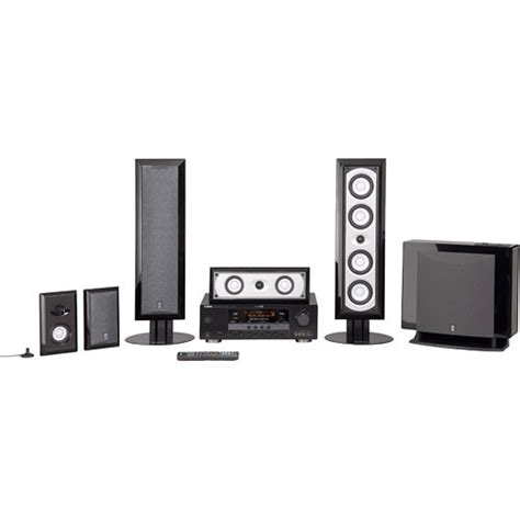 yamaha yht 790bl 5 1 channel home theater system yht 790bl b h