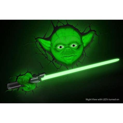 home star wars lights star wars yoda 3d wall light iwoot