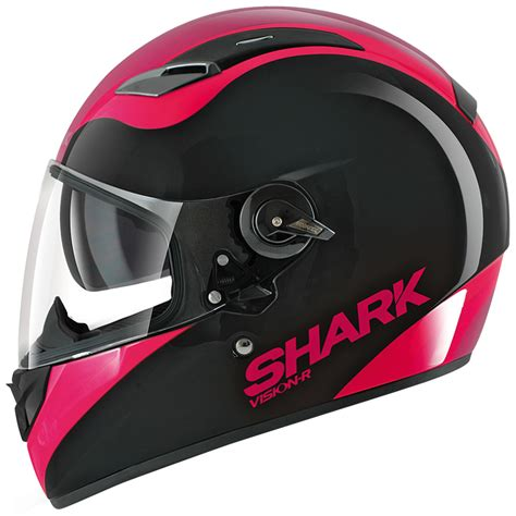 Motorradhelm Pink Damen by Shark Vision R Pixy Ladies Motorbike Womens Girls Full