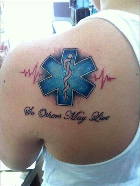 maltese cross ems star of life firefighter tattoo