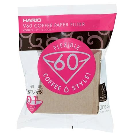 Hario Paper Filter 01 For Dripper 100 Sheets Vcf 01 100w hario v60 paper filters misarashi 02 dripper 100 pack