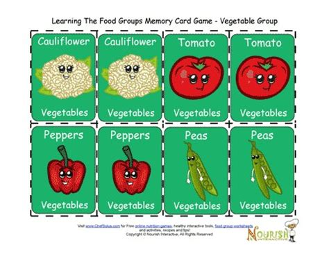 printable matching card games for toddlers kids matching vegetables card game printable game for