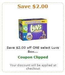 printable luvs diaper coupons luvs diapers coupon