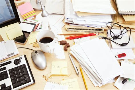 Disorganized Desk by Cleaning Tips For The Office Organize4results