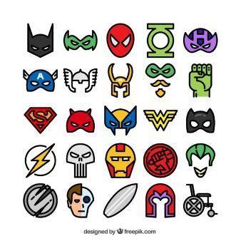 imagenes superheroes vectores iconos de superh 233 roes de colores vectores inspiraci 243 n