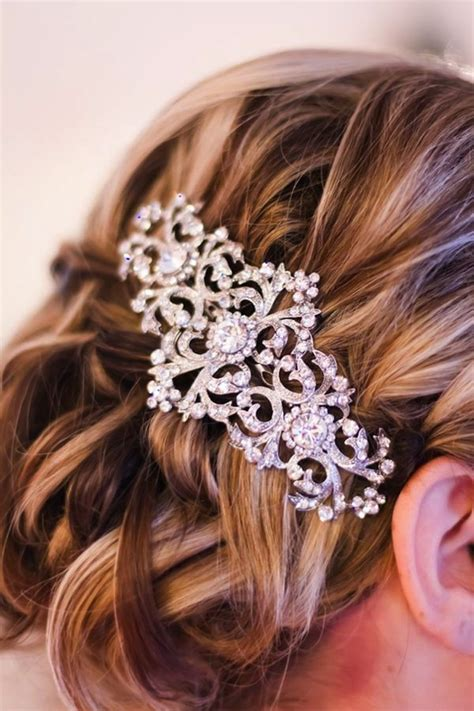 vintage bridal hair barrette vintage inspired bridal hair barrette and wedding updo
