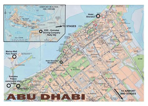 road map uae large road map of central part of abu dhabi city vidiani