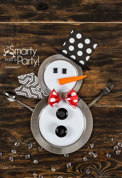 snowman table setting  smarty   party