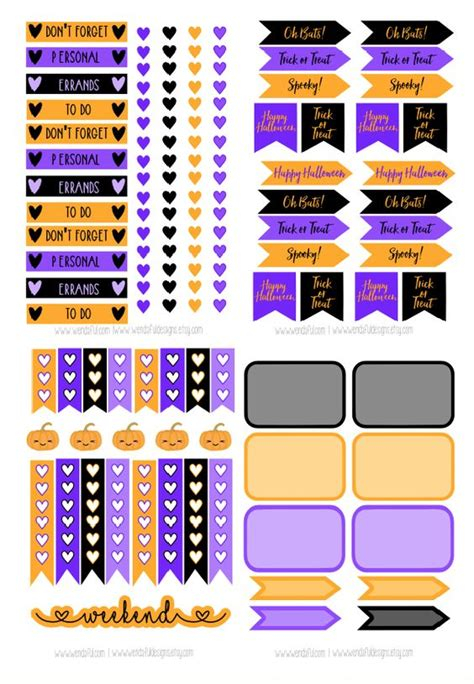 october printable planner stickers planners stickers and october on pinterest