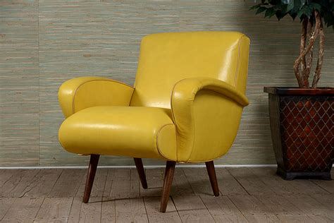 yellow sofa chair mid century arm chair in yellow leather mecox gardens