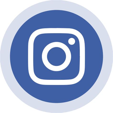 blue circled instagram logo icon png vector hd png image