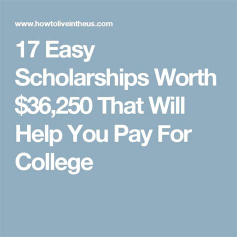 scholarships worth 100 1073 best images about college scholarships on pinterest
