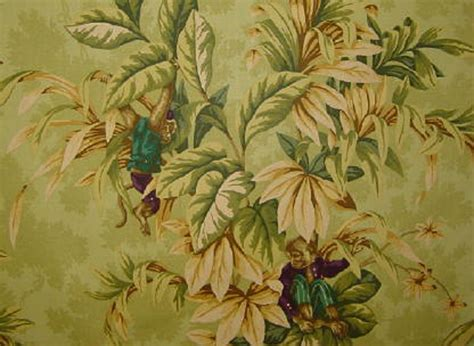 jungle curtain fabric drapery upholstery fabric 100 cotton monkey animal print
