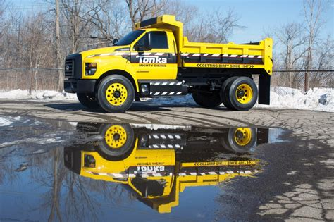 tonka truck this tonka truck is actually a 2016 ford f 750 underneath