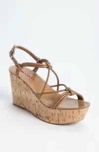 Prada cork wedge sandal for women wacoz