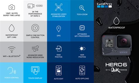 Gopro Hd 6 Hero6 by Gopro 6 Black With Free 32gb Card