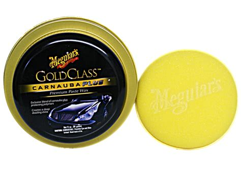 Meguairs Gold Class Carnauba Plus Premium Paste Wax meguiars paste pad gold class wax wachs dose profi nassglanz look