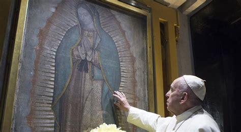 imagenes virgen de guadalupe con el papa papa francisco as 237 fue su emotivo encuentro con la virgen