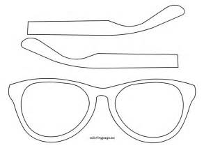 Glasses Template eyewear template printable coloring page