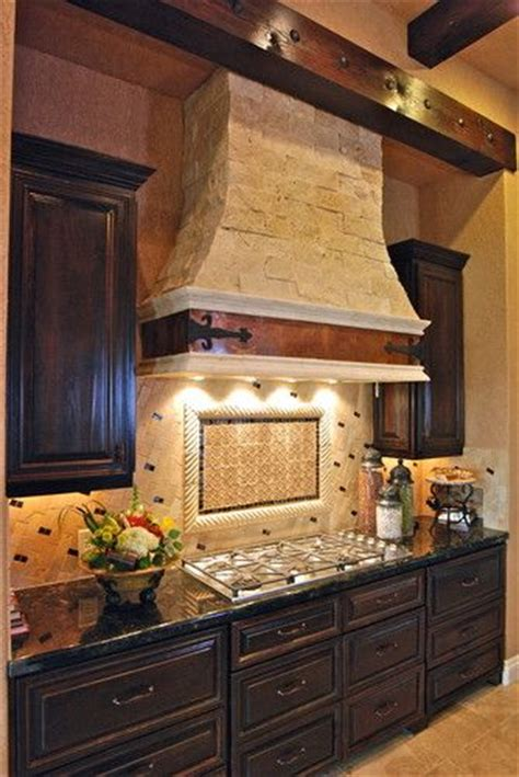 brick backsplash and copper hood would look great with 17 best images about mediterranean on pinterest