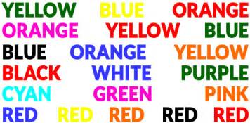 the word color in brainbashers say the colour