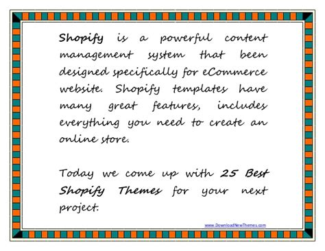 25 Best Shopify Templates For Amazing Ecommerce Website Shopify Templates Ecommerce