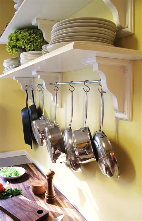 Pot Rack Above Stove 58 Cool Kitchen Pots And Lids Storage Ideas Digsdigs